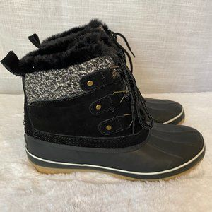 NEW KHOMBU Keri Suede Lace-Up Winter Boots